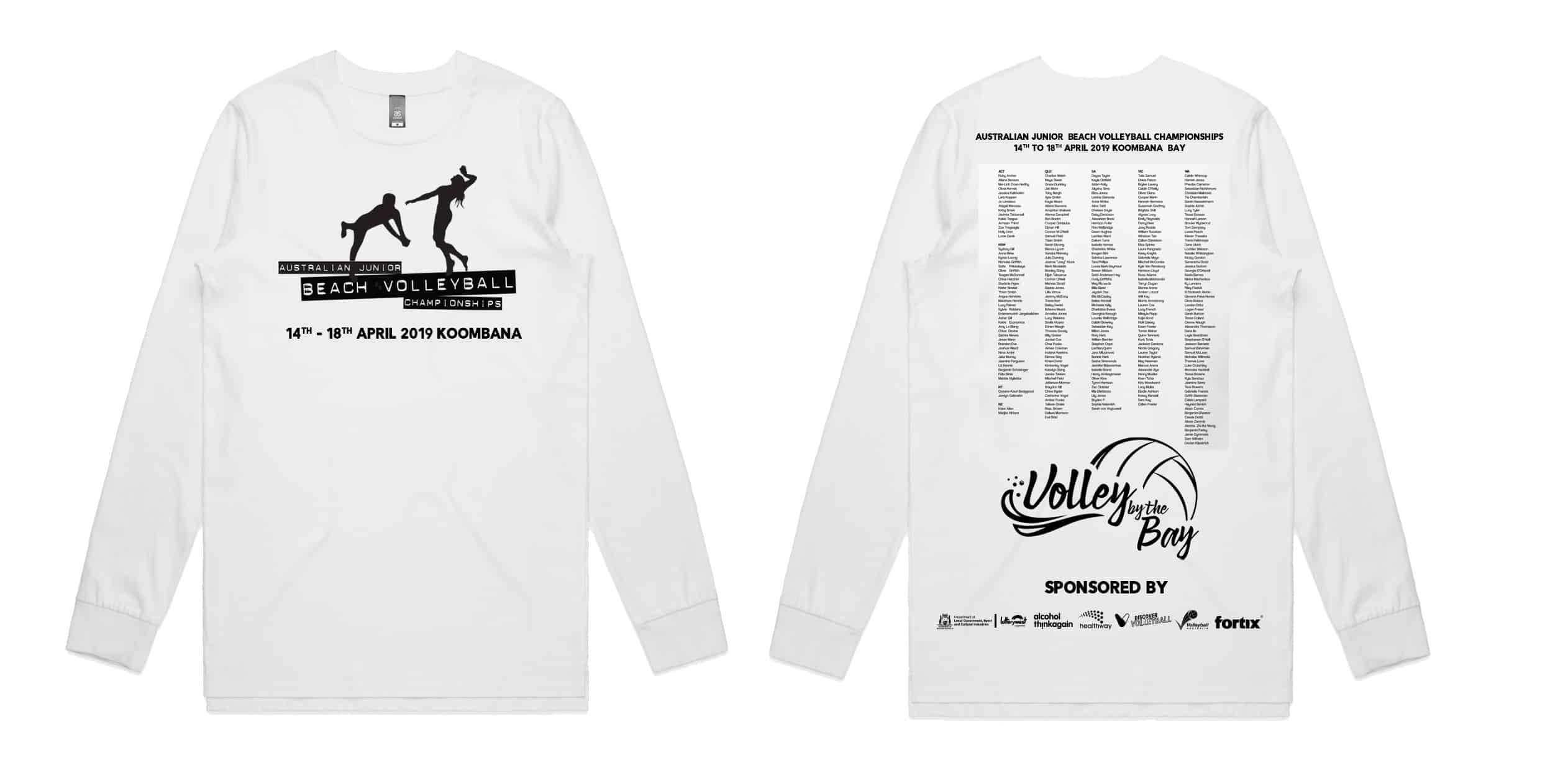 Volley by the Bay - White Long Sleeve Tee 1